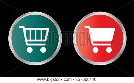 Shooping Cart Icon Isolated Black On White Background,shooping Cart Icon Vector Flat Modern, Cart Ic