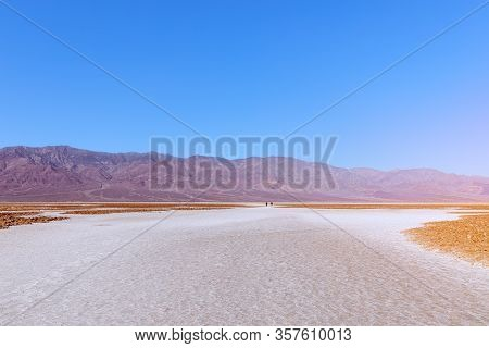 View Of The Basins Salt Flats, Badwater Basin, Death Valley, Inyo County, Salt Badwater Formations I