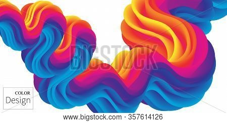 Fluid Flow. Ink Splash. Liquid Color. Fluid Shape. Abstract Flow. Vibrant Color. Trendy Poster. Colo
