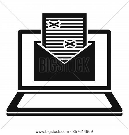 Mail Editor Icon. Simple Illustration Of Mail Editor Vector Icon For Web Design Isolated On White Ba