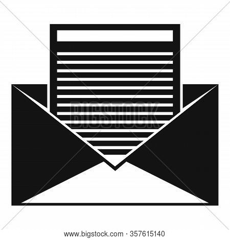 Office Mail Editor Icon. Simple Illustration Of Office Mail Editor Vector Icon For Web Design Isolat