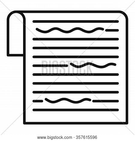 Service Editor Icon. Outline Service Editor Vector Icon For Web Design Isolated On White Background