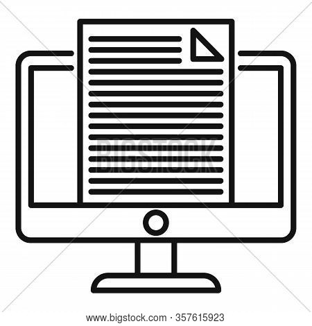Journalist Editor Icon. Outline Journalist Editor Vector Icon For Web Design Isolated On White Backg