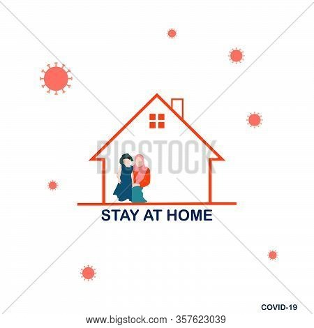 Novel Coronavirus (2019-ncov). Stay At Home Order Icon. A Stay At Home Order Is The Governor Directi