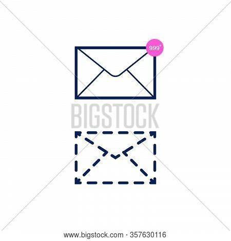 New Incoming Messages Icon With Notification. Envelope With Incoming Message.