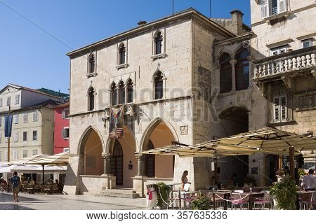 Split, Croatia - August 24, 2012: The Ethnographic Museum In Split. Split Is A City In Croatia On Th