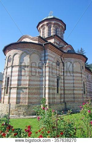Historic Church Of Cozia Orthodox Monastery In Romania