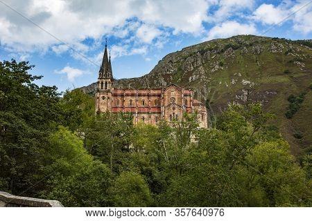 Beautiful Photo Of The Monastery Of Covadonga, Asturias
