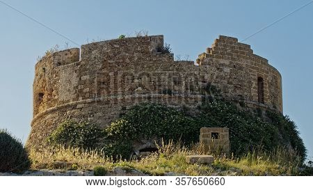 The Remains Of A Medieval Observation Tower, Such As Many On The Southern Coast Of Italy