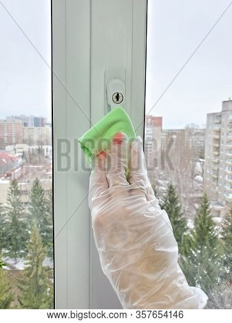 Disinfection Of Light Switches, Window Handles, Cabinet Handles, Intercom, Laptop. Fighting The Spre