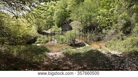 Old Water Mill For Grinding Grain Near Gârnic In Banat, Romania