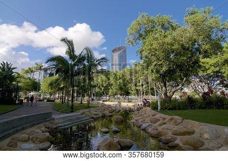 Brisbane, Queensland, Australia - 28th January 2020 : View Of 1 William Street Tower Building Seen F
