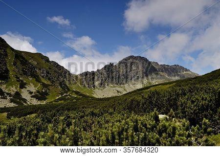 Furkotska Dolina. High Tatras. Slovakia. Mountain Ridge View. Summer. July.