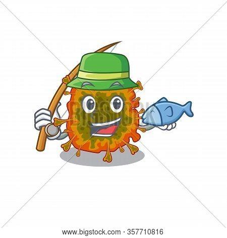 A Picture Of Funny Fishing Duvinacovirus Design