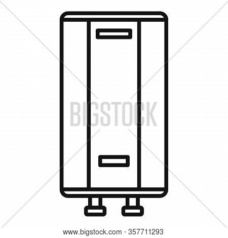 Warming Boiler Icon. Outline Warming Boiler Vector Icon For Web Design Isolated On White Background