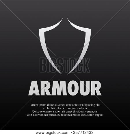 Vector Illustration Of A Simple Abstract Shield Logo. Suitable For The Logo And Branding Of The Mili