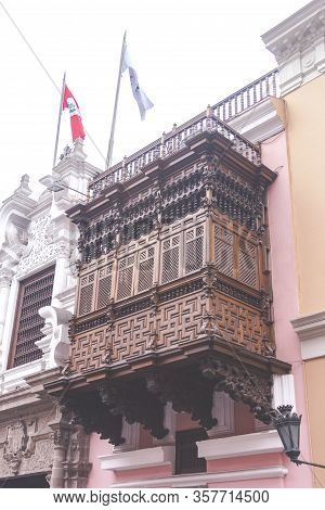 Lima, Peru - January 23, 2020: Center Street Lima, Tourism In The Streets Of Lima
