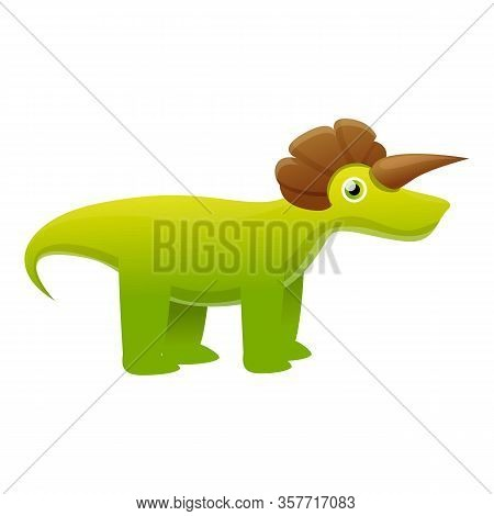 Dino Monster Icon. Cartoon Of Dino Monster Vector Icon For Web Design Isolated On White Background
