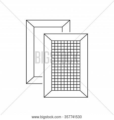 Deckle Line Icon, Outline Vector Sign Linear