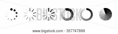 Loading Process Bar Vector Isolated Elements On White Backgroud. Vector Loading Processing Signs. Pr