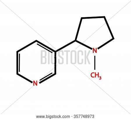 The Chemical Formula Of Nicotine. Symbol. Vector Illustration.