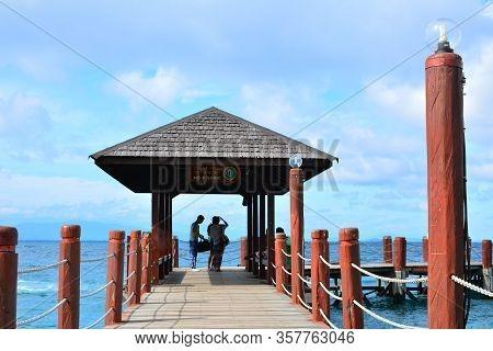 Sabah, My - June 20: Manukan Island Pathway On June 20, 2016 In Sabah, Malaysia. The Manukan Island