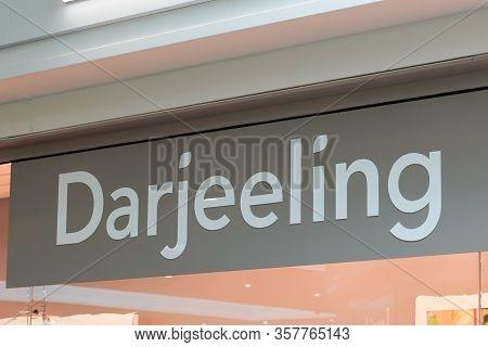 Bordeaux , Aquitaine / France - 09 24 2019 : Store Sign Darjeeling Lingerie Collection Shop