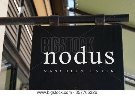 Bordeaux , Aquitaine / France - 12 17 2019 : Nodus Shop Sign Store French Luxury Fashion Logo Men Cl