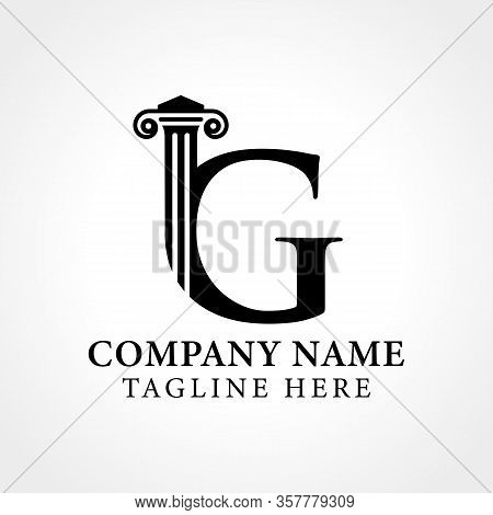 Attorney & Law Initial Letter G Logo With Creative Modern Typography Vector Template. Abstract Lette