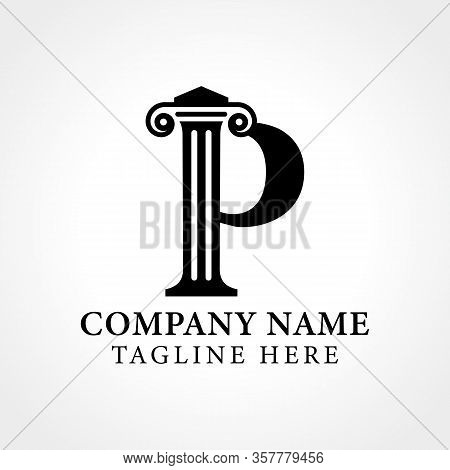 Attorney & Law Initial Letter P Logo With Creative Modern Typography Vector Template. Abstract Lette
