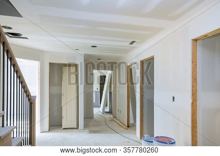 Construction Building Industry New Home Construction Interior Drywall Tape And Finish Details Instal