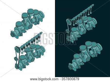 Piston Group With Crankshaft Color Drawings