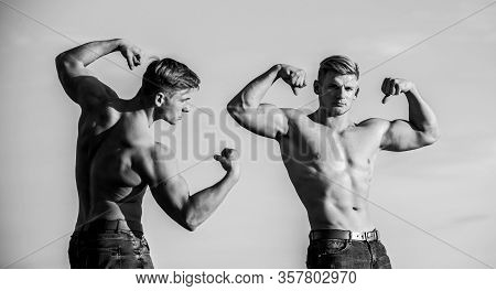 Sport Success. Athletic Man Sexy Body. Success Is Getting What You Want. Promotion Of Health. In Lov