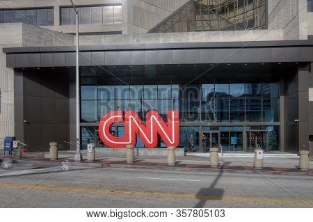 Atlanta, Georgia/united States- January 8, 2020: A Sign At Cnn Center In Atlanta, Georgia In (atlant
