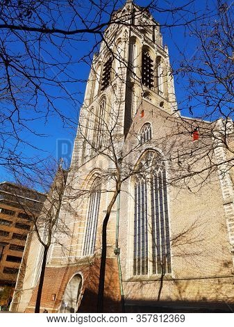 Ancient And Famous Church In Rotterdam In Netherlands