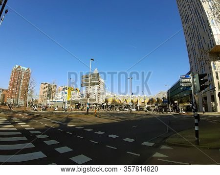 European City The Main Square Of Rotterdam In Holland