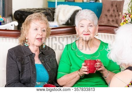 Three Senior Women Enjoying Each Spending Time Together