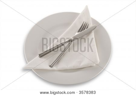 Cutlery Napkin And Plate