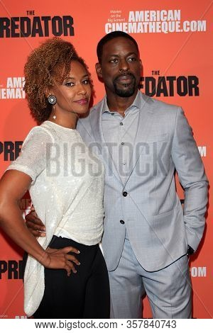 LOS ANGELES - SEP 12:  Ryan Michelle Bathe, Sterling K Brown at the