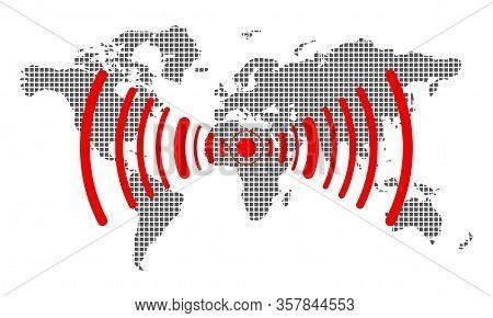 Earthquake Background. Seismogram For Seismic Measurement Vector