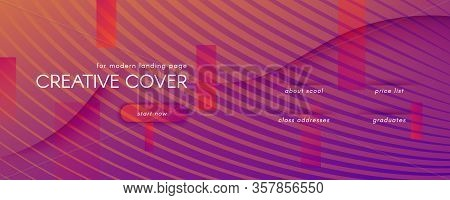 Abstract Fluid Background. 3d Dynamic Elements. Flow Shapes Banner. Orange Abstract Fluid Background