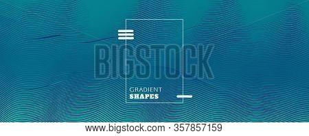 Blue Dynamic Wave. Fluid 3d Design. Vector Geometric Line. Dynamic Wave. Graphic Texture. Flow Liqui