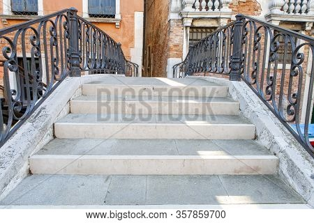 A View Of The Pedestrian Bridge In Venice Italy
