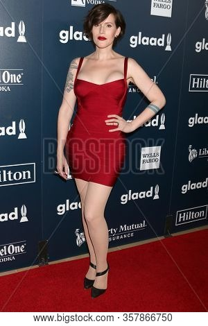 LOS ANGELES - APR 1:  Our Lady J at the 28th Annual GLAAD Media Awards at Beverly Hilton Hotel on April 1, 2017 in Beverly Hills, CA