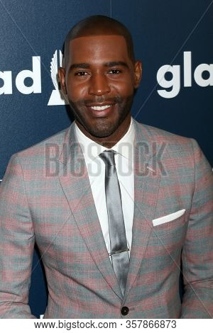 LOS ANGELES - APR 1:  Karamo Brown at the 28th Annual GLAAD Media Awards at Beverly Hilton Hotel on April 1, 2017 in Beverly Hills, CA