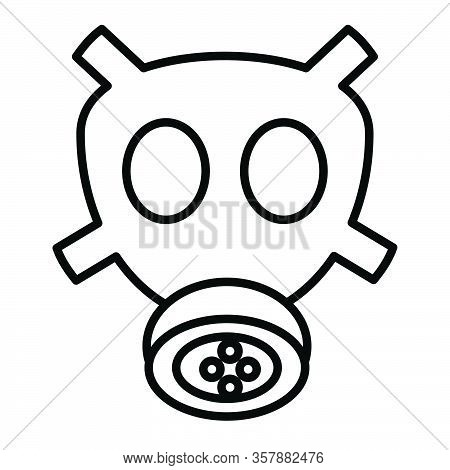 Gas Mask For Protection Against Virus And Other Biohazard Threats. Vector Illustration In Black And