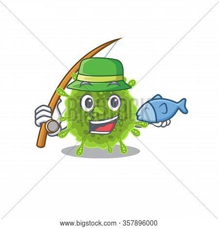 A Picture Of Funny Fishing Coronavirus Design