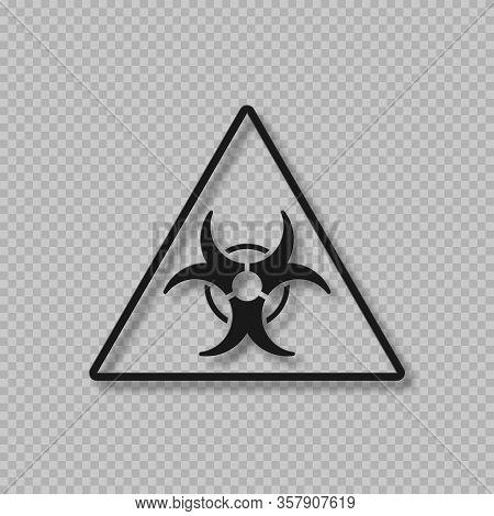 Vector Biohazard Warning Symbol. Biological Threat Alert Sign. 3d Style Isolated On Transparent Back
