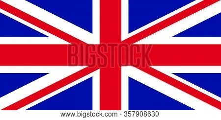 Official British Flag Of The United Kingdom. Union Jack. Proportions: 2: 1. Rgb Colors. Blue: 1, 33,