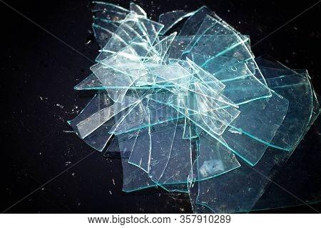 Broken Glass Pile Pieces Texture